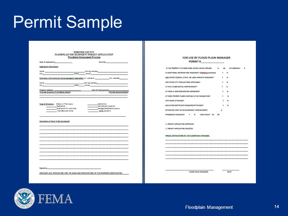 Permit Sample A good permitting system will take care of a lot of future problems.