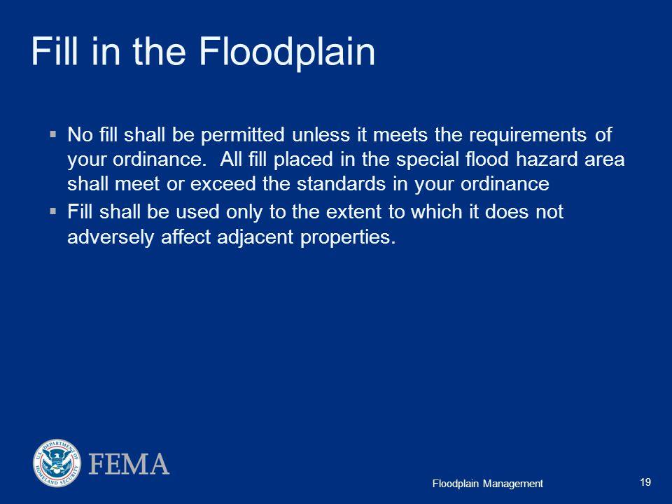 Fill in the Floodplain