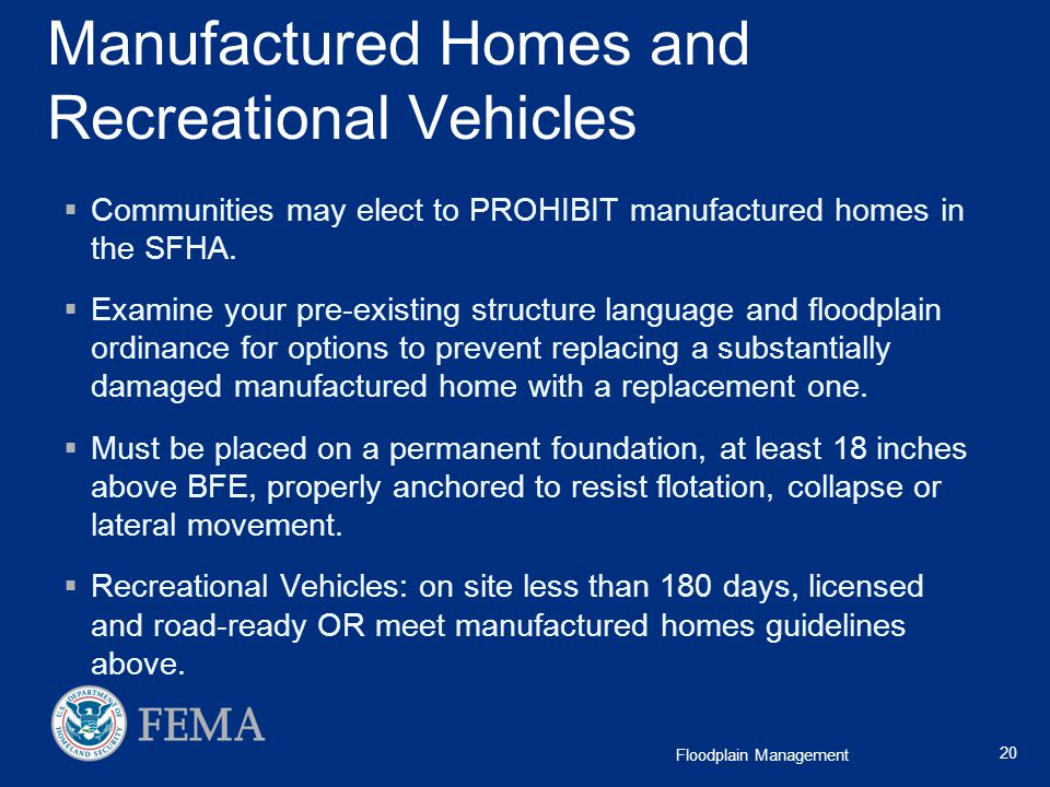 Manufactured Homes and Recreational Vehicles