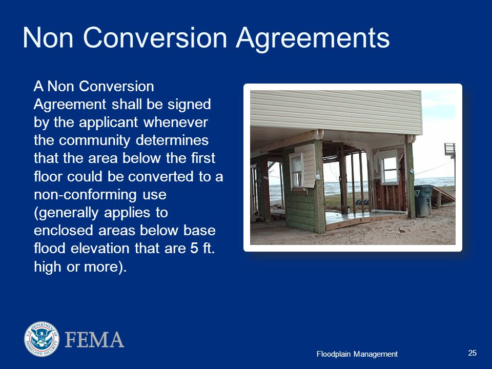 Non Conversion Agreements