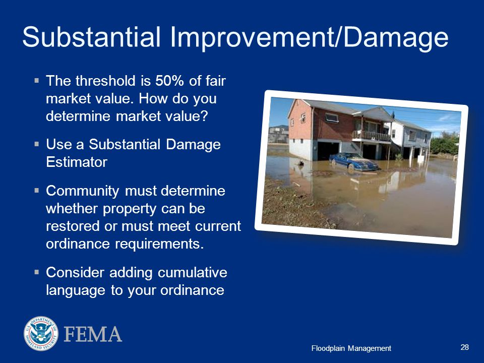 Substantial Improvement/Damage