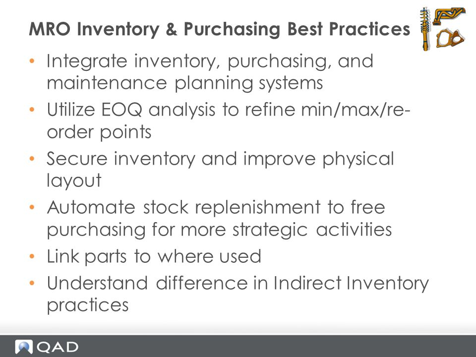 MRO Inventory & Purchasing Best Practices