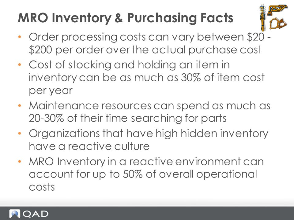 MRO Inventory & Purchasing Facts