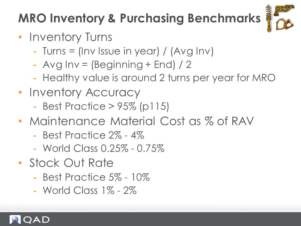 MRO Inventory & Purchasing Benchmarks