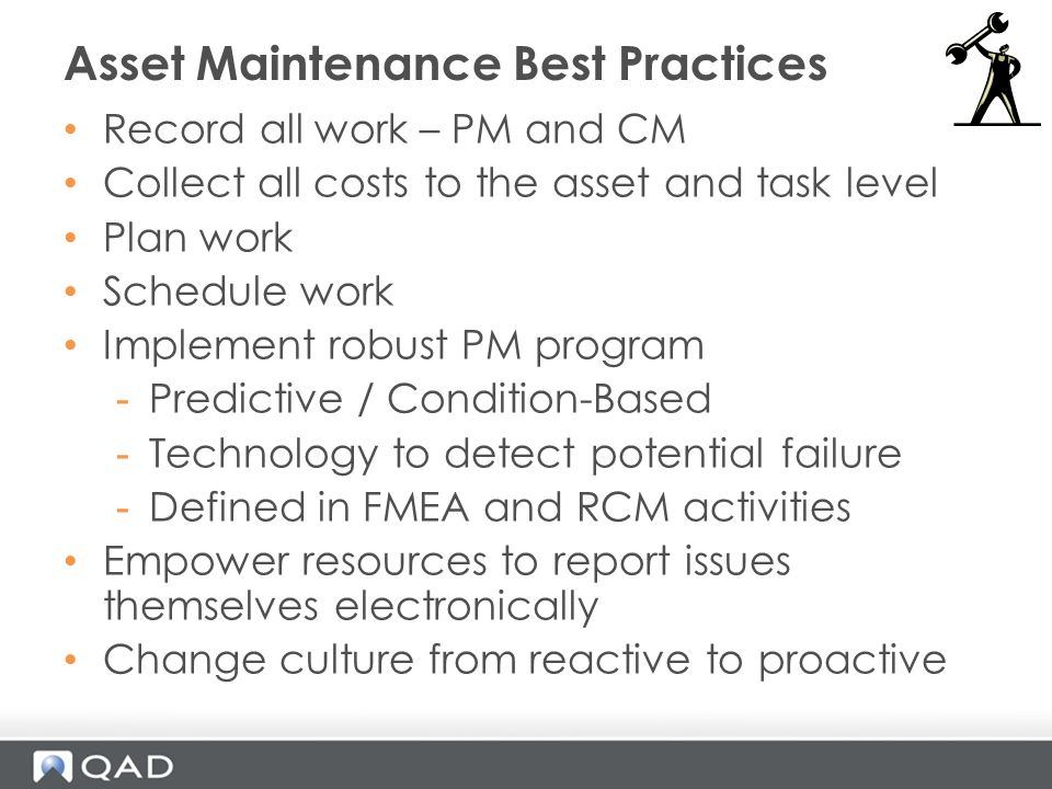 Asset Maintenance Best Practices