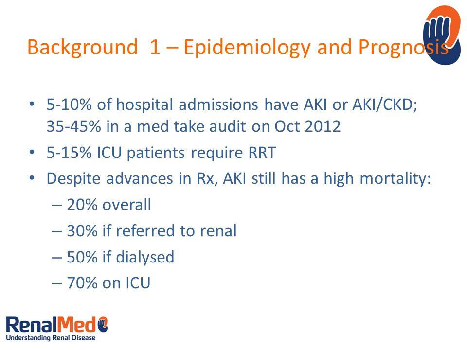 Background 1 – Epidemiology and Prognosis