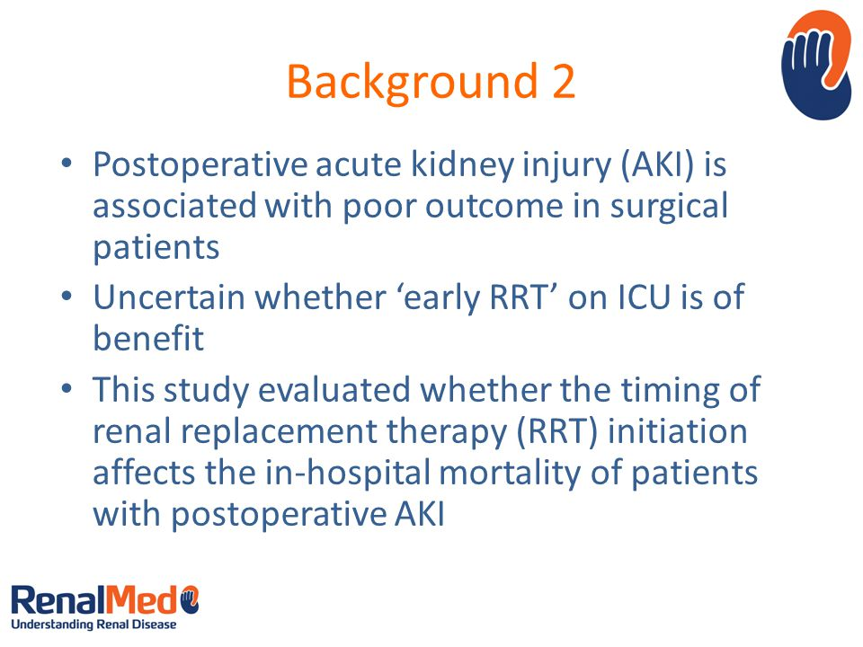 Background 2 Postoperative acute kidney injury (AKI) is associated with poor outcome in surgical patients.