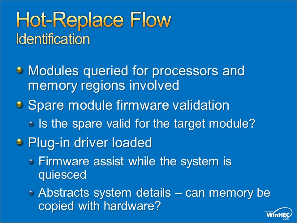 Hot-Replace Flow Identification