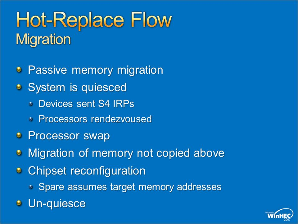 Hot-Replace Flow Migration