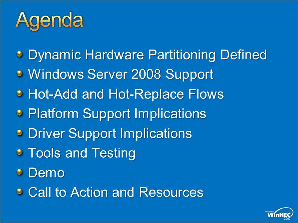 Agenda Dynamic Hardware Partitioning Defined