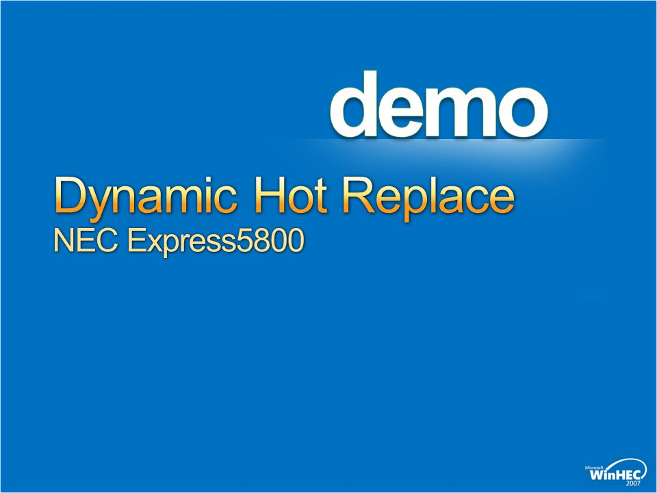 Dynamic Hot Replace NEC Express5800