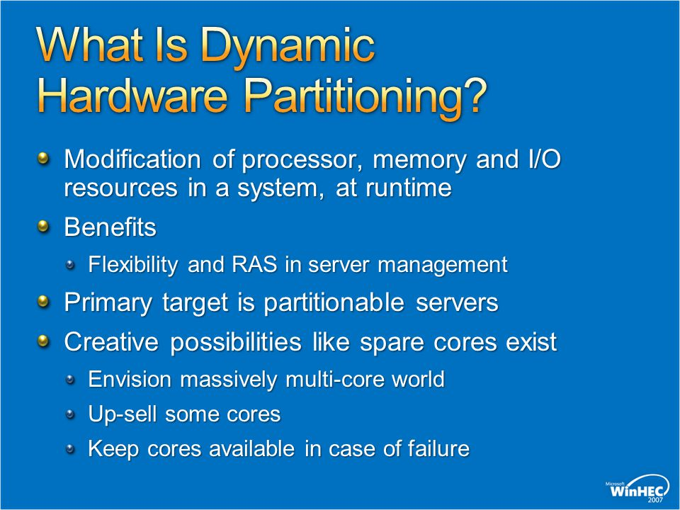 What Is Dynamic Hardware Partitioning