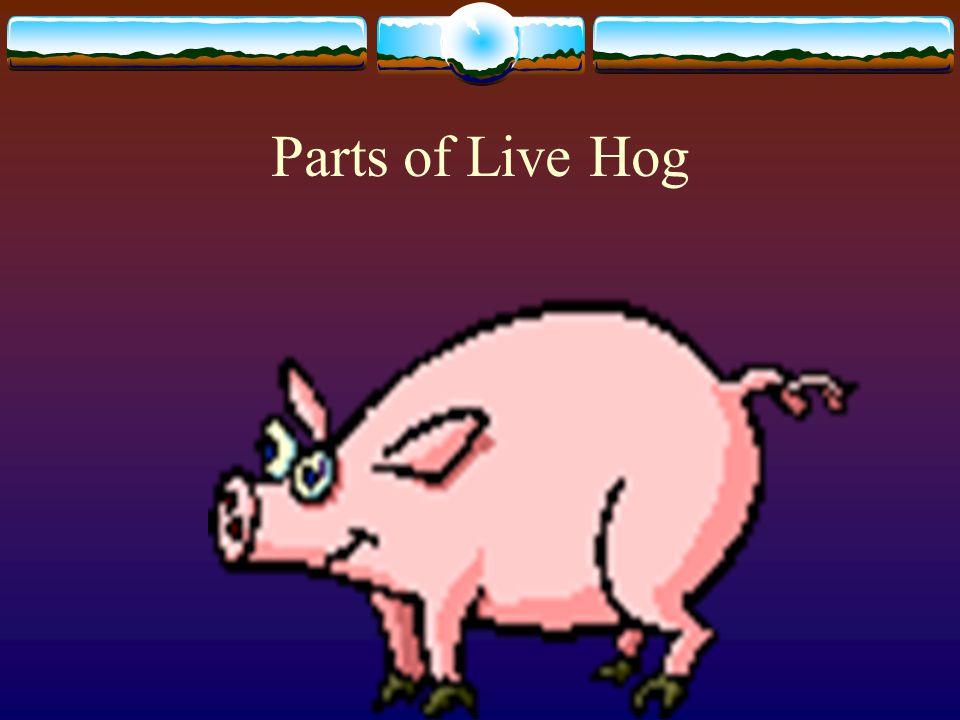 Parts of Live Hog