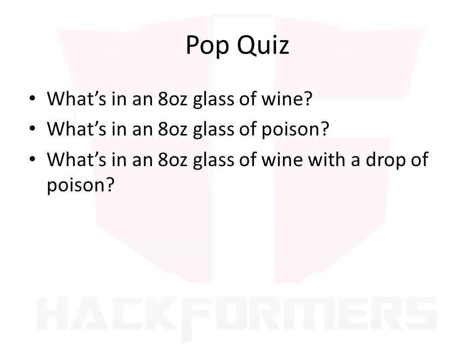 Pop Quiz What's in an 8oz glass of wine