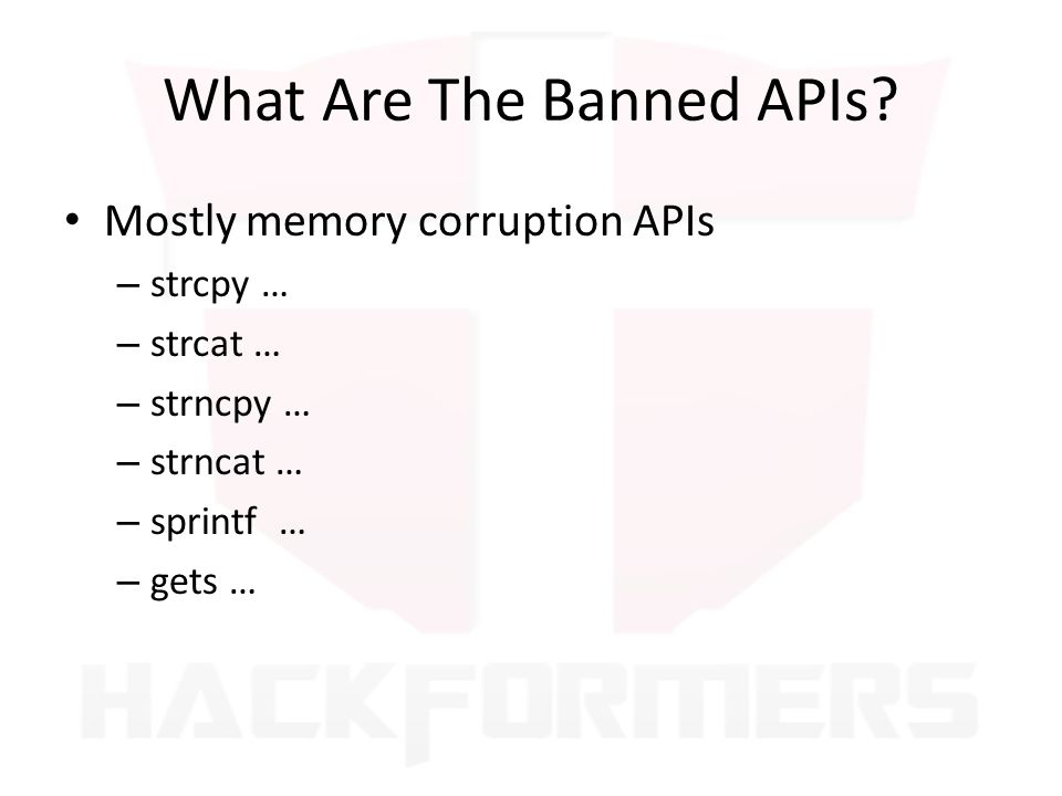 What Are The Banned APIs