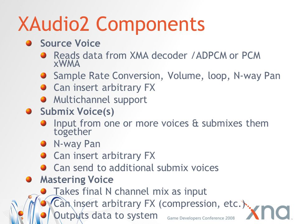 XAudio2 Components Source Voice