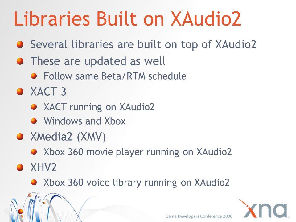 Libraries Built on XAudio2