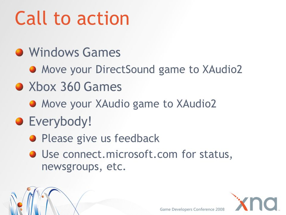 Call to action Windows Games Xbox 360 Games Everybody!