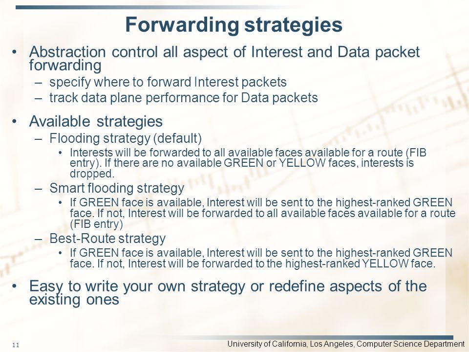 Forwarding strategies
