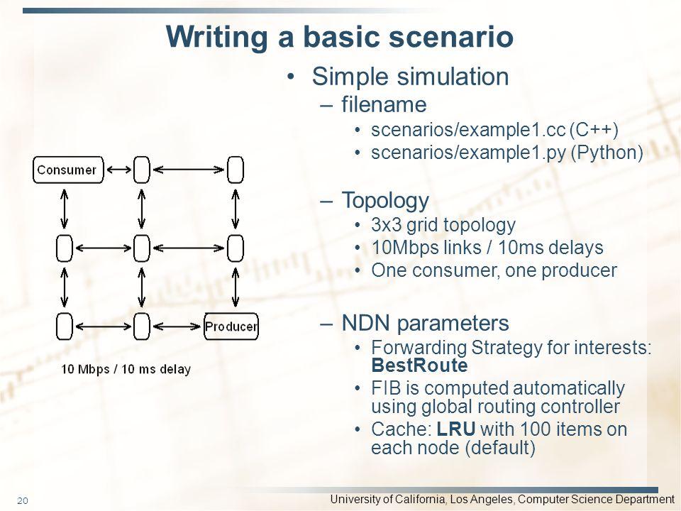 Writing a basic scenario