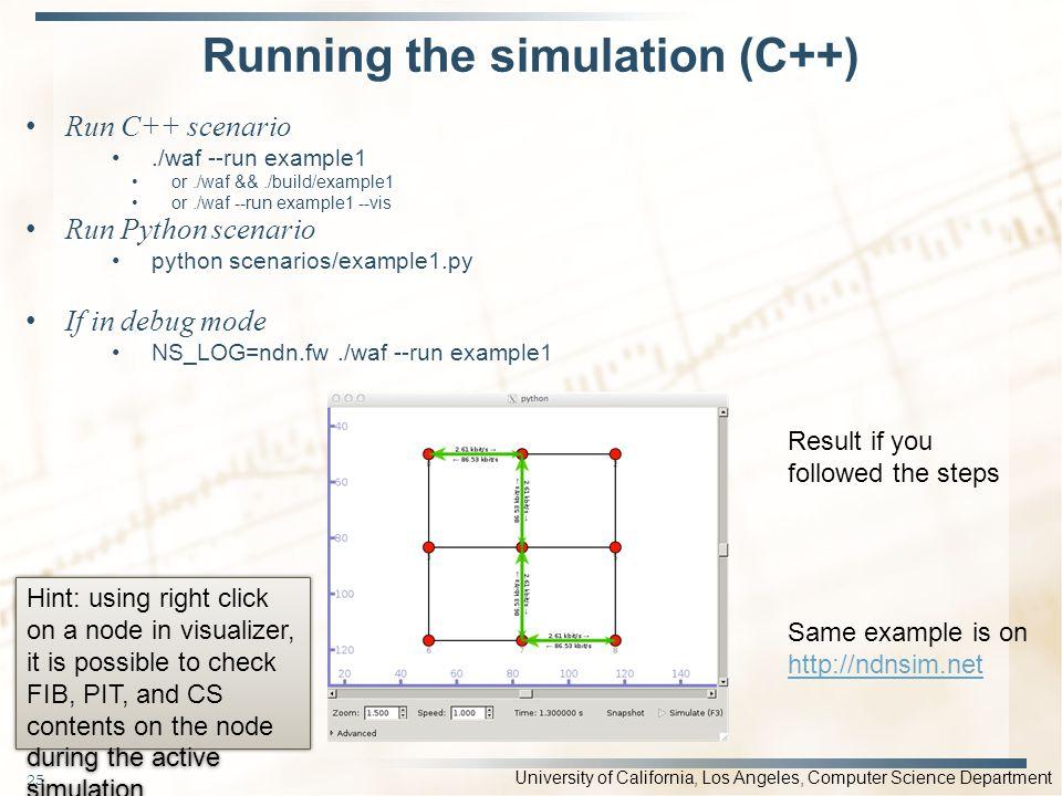 Running the simulation (C++)