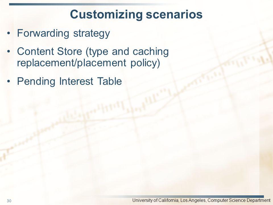 Customizing scenarios