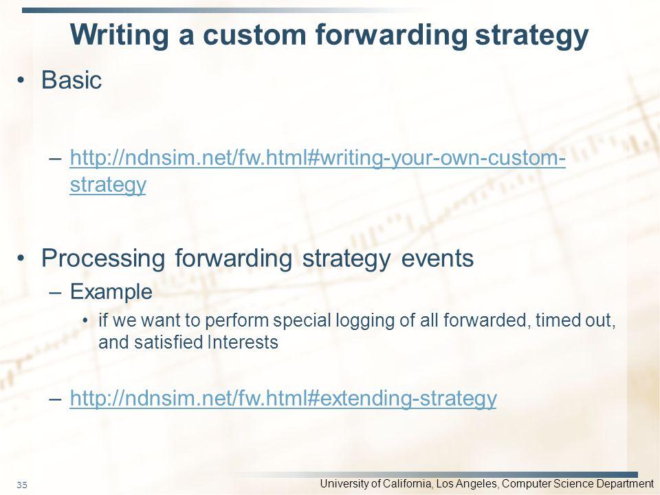 Writing a custom forwarding strategy