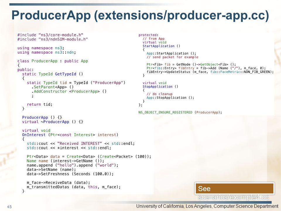 ProducerApp (extensions/producer-app.cc)