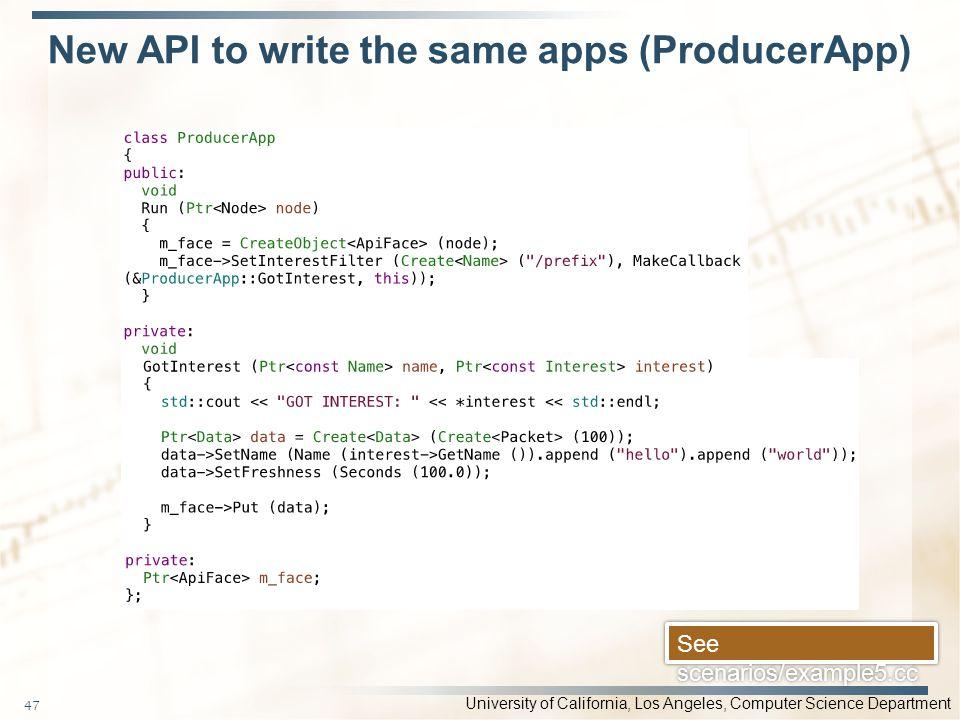 New API to write the same apps (ProducerApp)