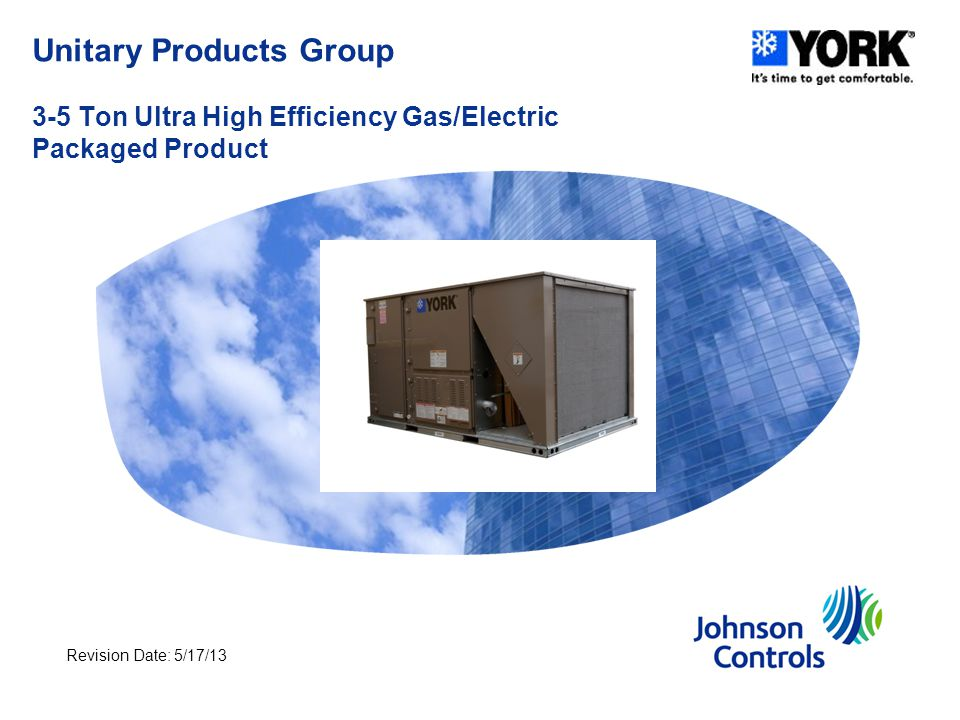 Unitary Products Group 3-5 Ton Ultra High Efficiency Gas/Electric Packaged Product