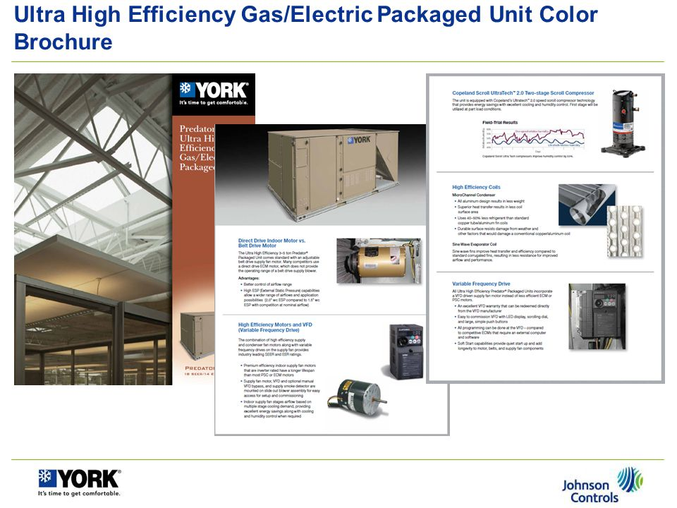 Ultra High Efficiency Gas/Electric Packaged Unit Color Brochure
