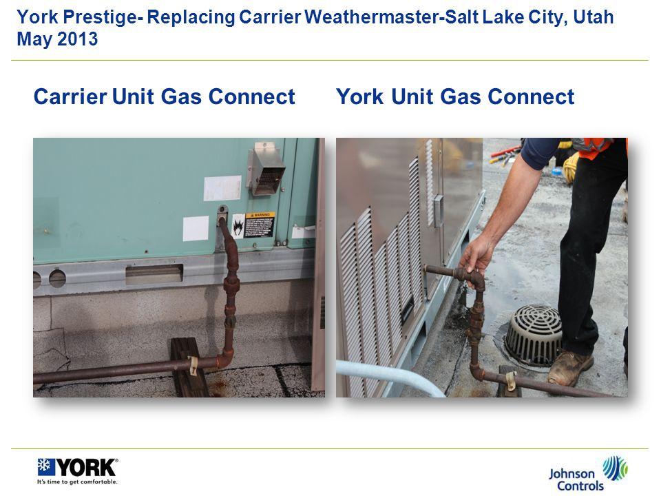 Carrier Unit Gas Connect