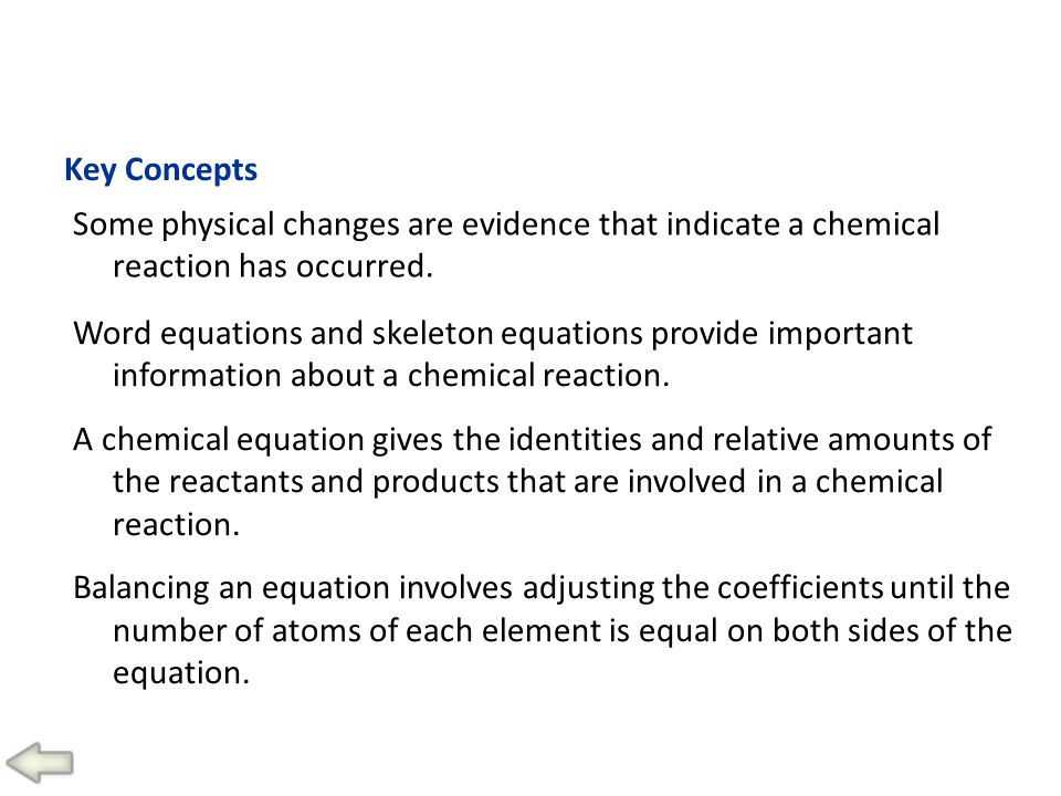 Reactions and Equations