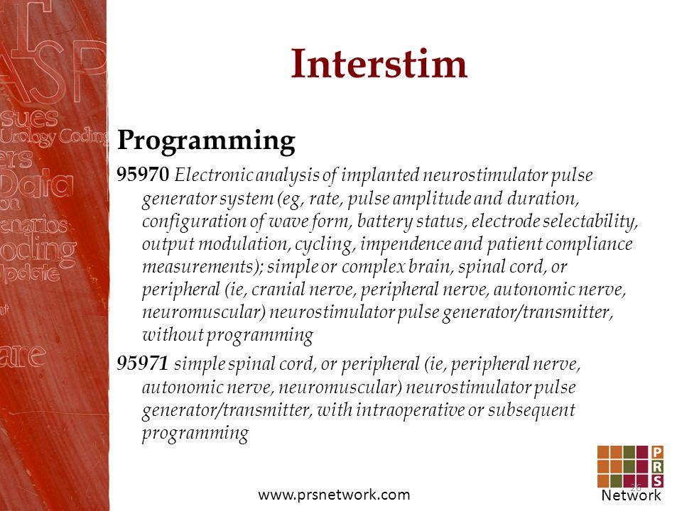 Interstim Programming
