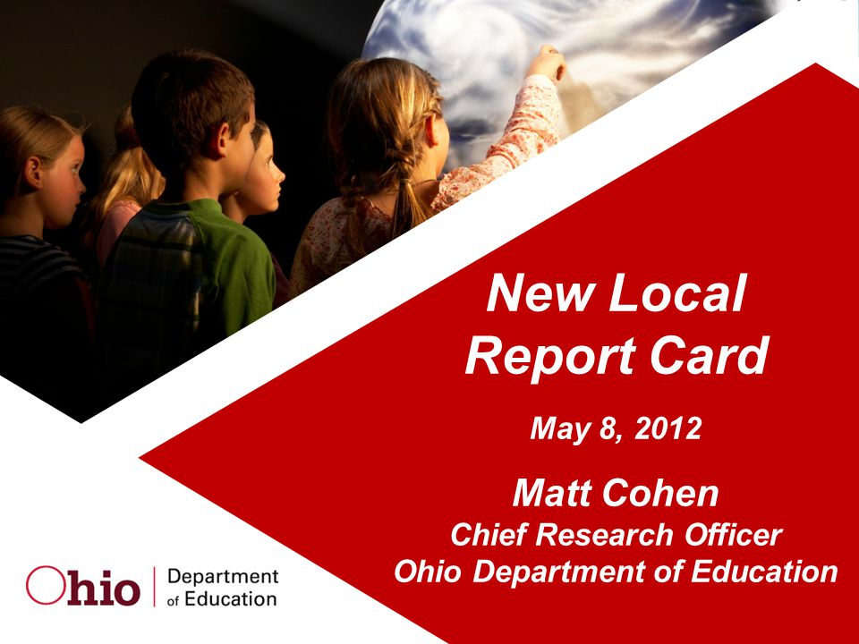 Chief Research Officer Ohio Department of Education