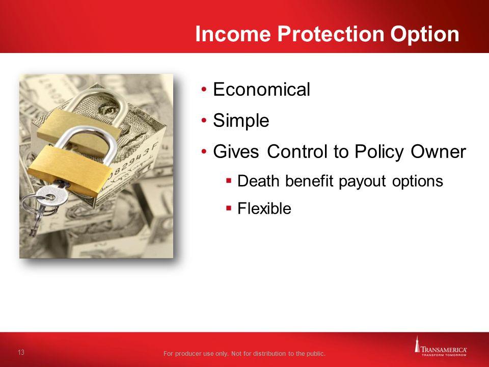 Income Protection Option