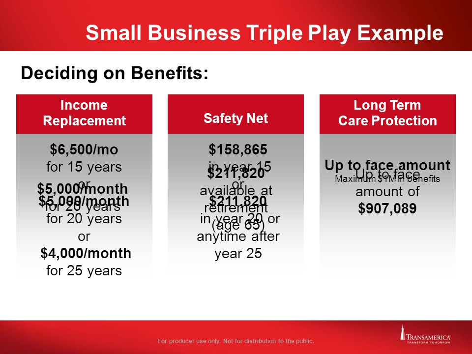 Small Business Triple Play Example