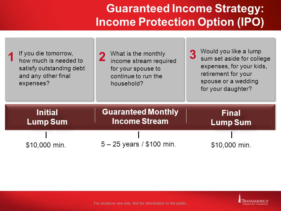 Guaranteed Income Strategy: Income Protection Option (IPO)