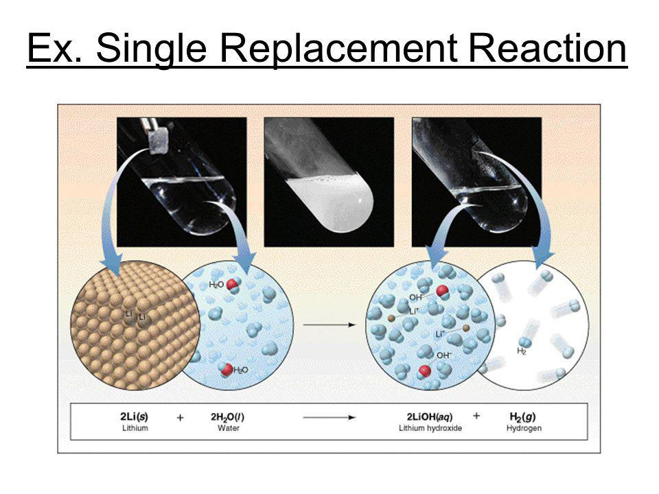 Ex. Single Replacement Reaction