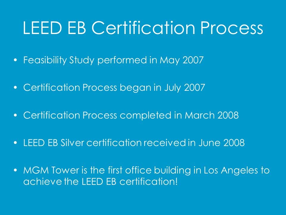 LEED EB Certification Process
