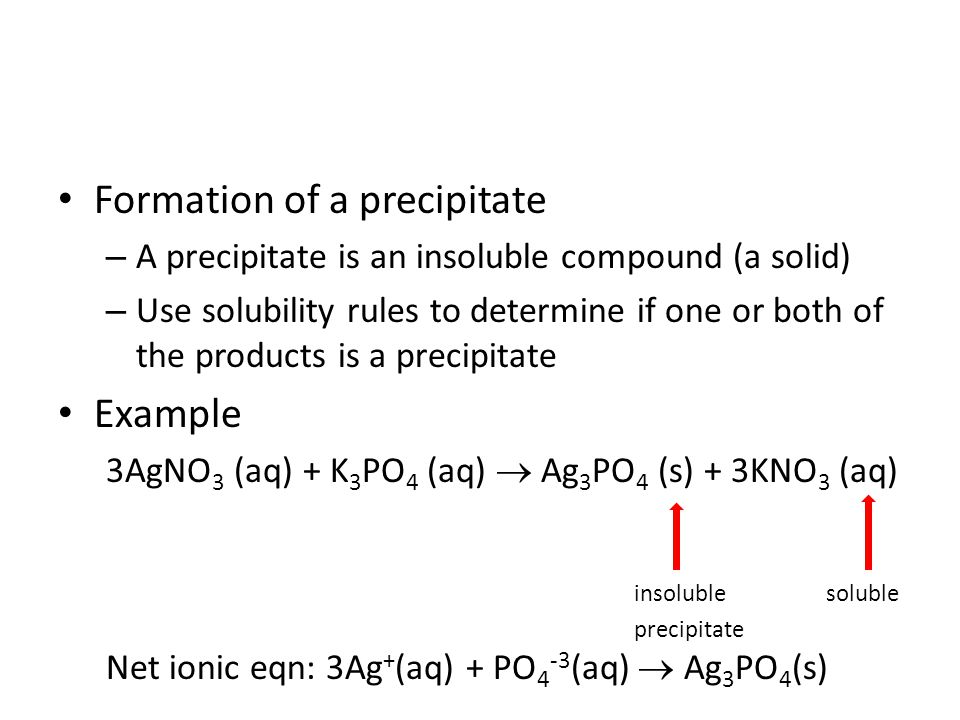 Predicting Products of Reactions ppt download – Solubility Rules Worksheet