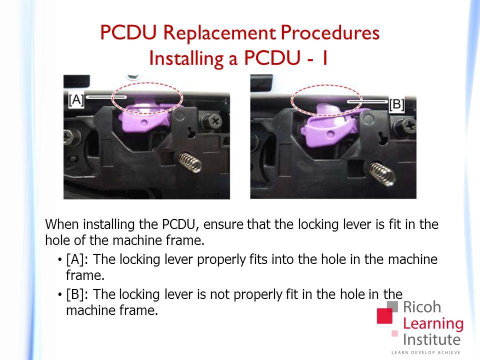 PCDU Replacement Procedures Installing a PCDU - 2