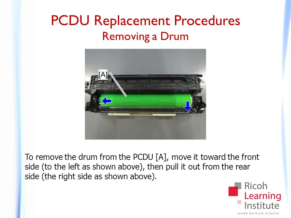 PCDU Replacement Procedures Installing a Drum - 1