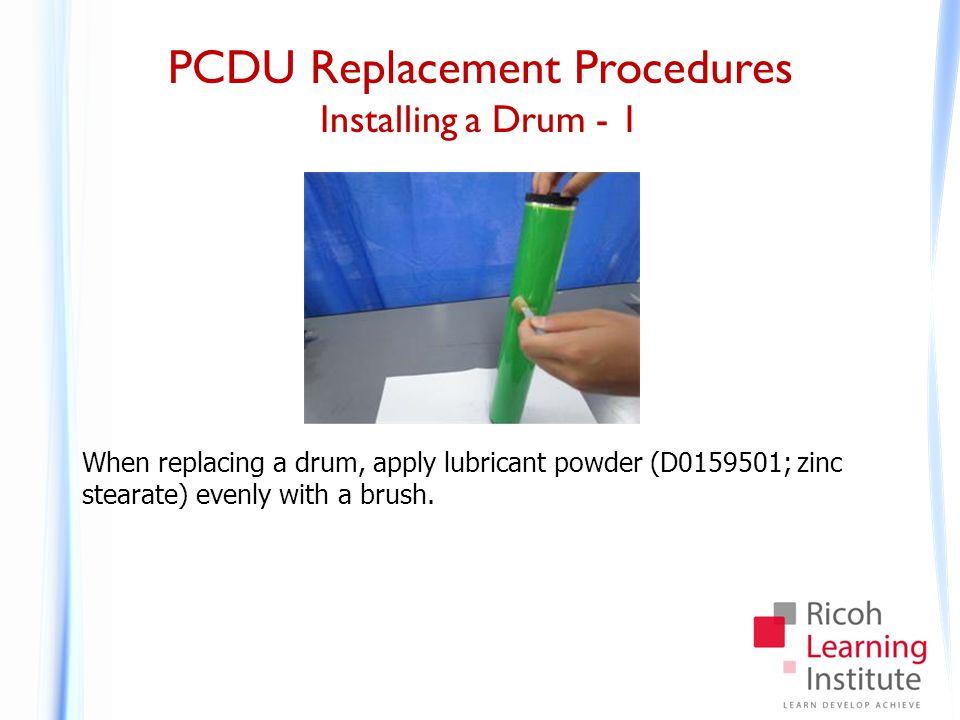 PCDU Replacement Procedures Installing a Drum - 2