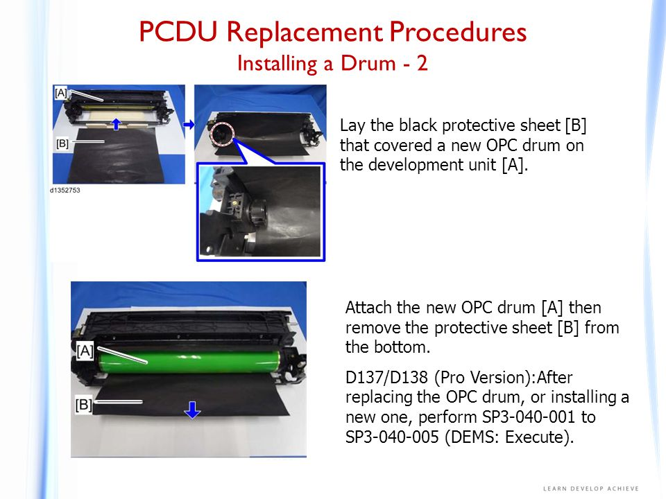 PCDU Replacement Procedures Drum Cleaning Unit - 1
