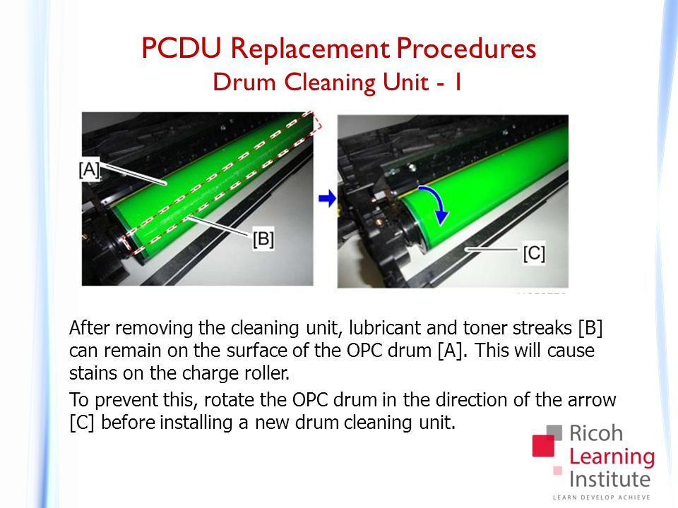 PCDU Replacement Procedures Drum Cleaning Unit - 2