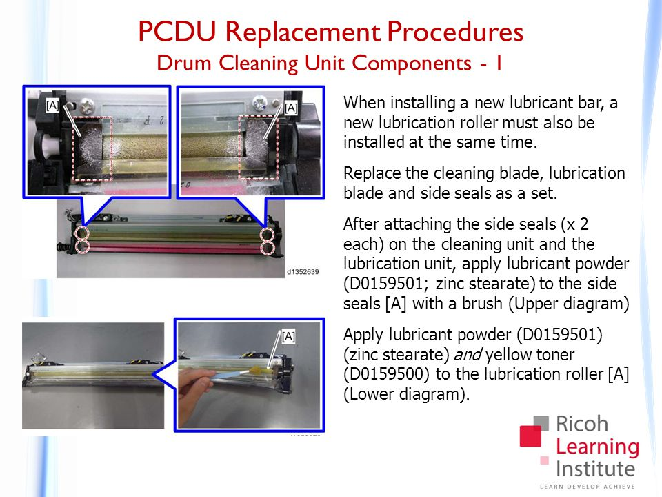 PCDU Replacement Procedures Drum Cleaning Unit Components - 2