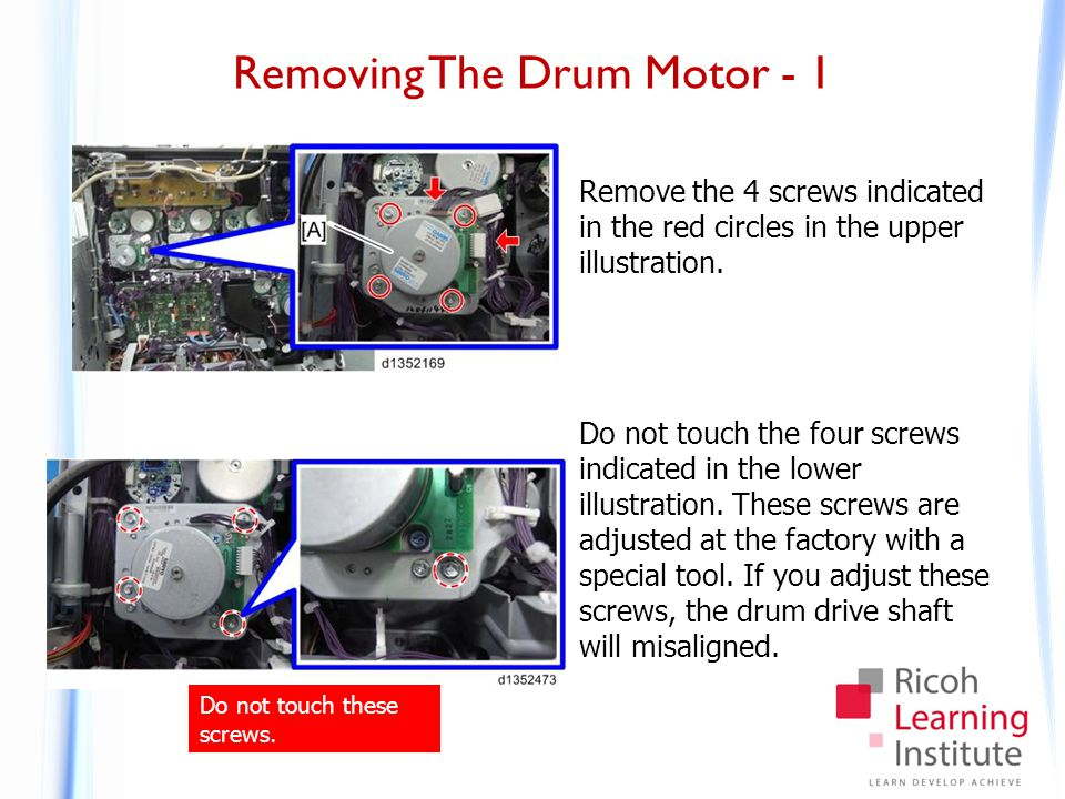 Removing The Drum Motor - 2