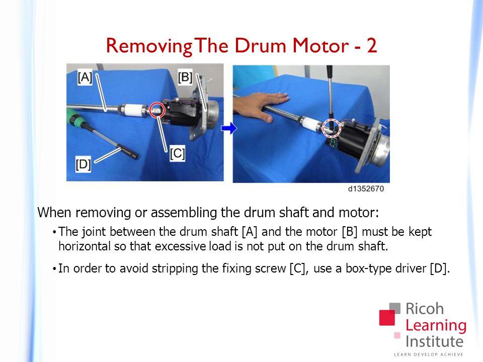 Replacing The Drum Motor