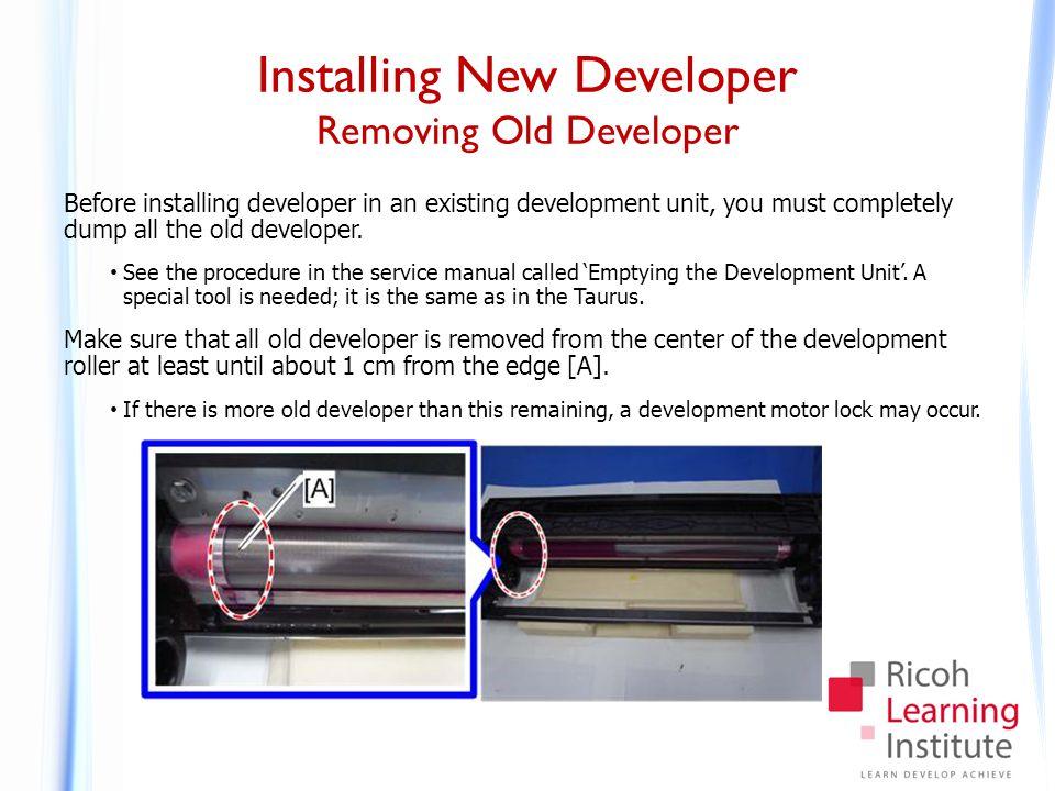 Installing New Developer Procedure - 1